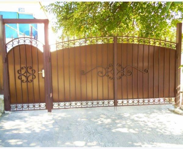 Кованые ворота V-6