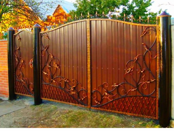Кованые ворота V-60