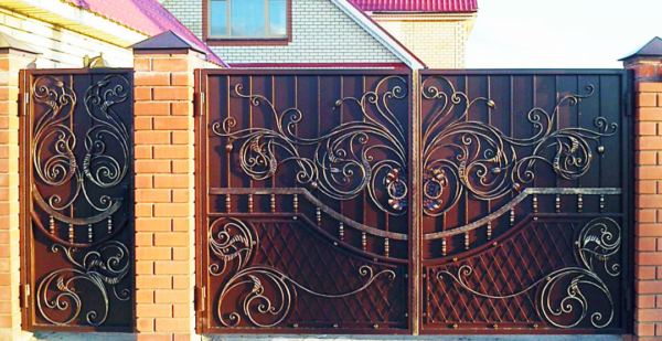 Кованые ворота V-69