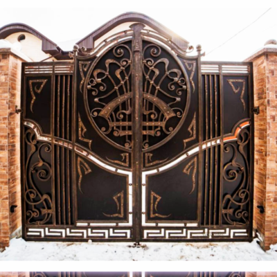 Кованые ворота V-44