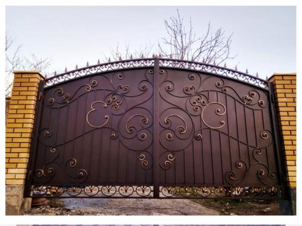 Кованые ворота V-42