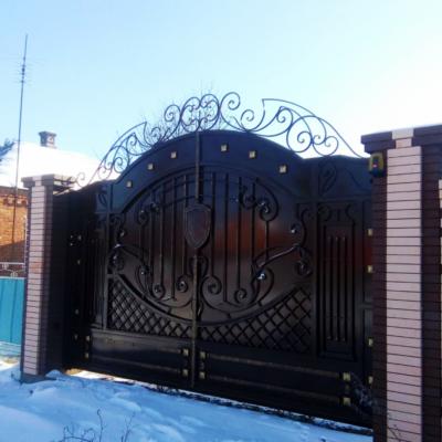 Кованые ворота V-40