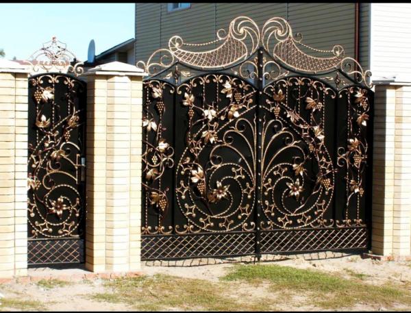Кованые ворота V-31
