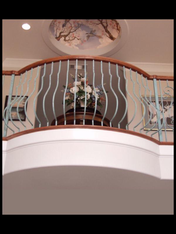 Кованые балконы Б34