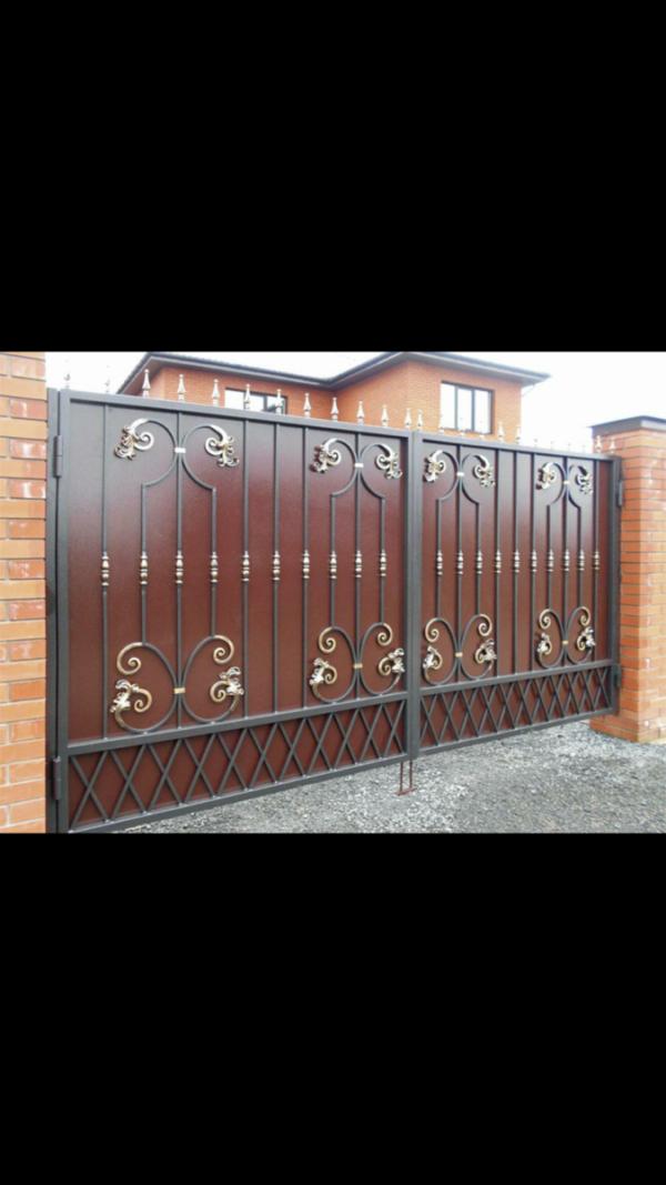 Кованые ворота V58