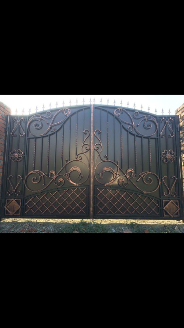 Кованые ворота V-59