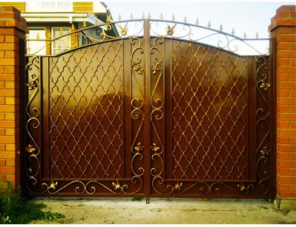 Кованые ворота V-73