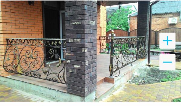 Кованые балконы Б58