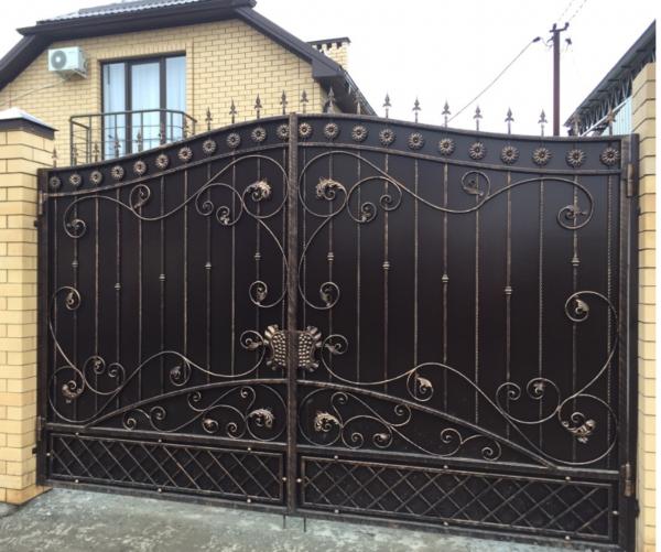 Кованые ворота V-78