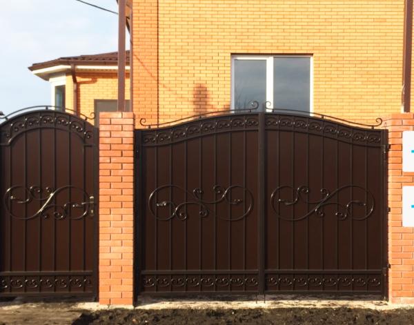 Кованые ворота V-77