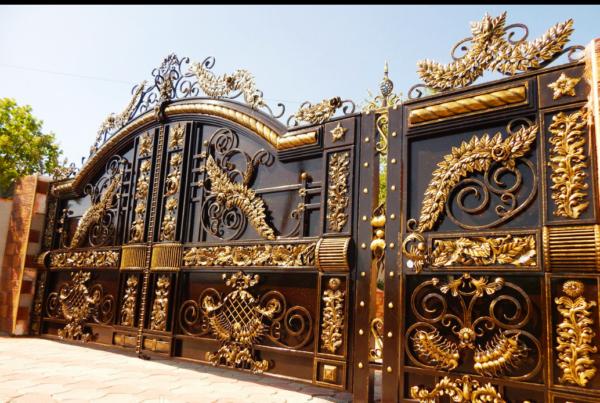 Кованые ворота V-86