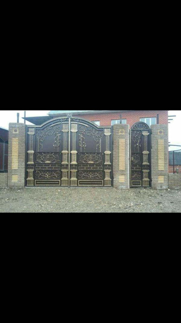 Кованые ворота V-74