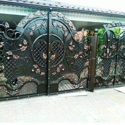 Кованые ворота V-112