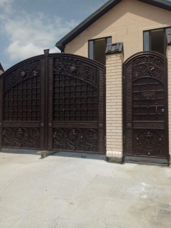 Кованые ворота V-113