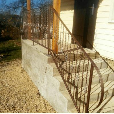 Кованые перила для балкона, лестниц, крыльца П-148
