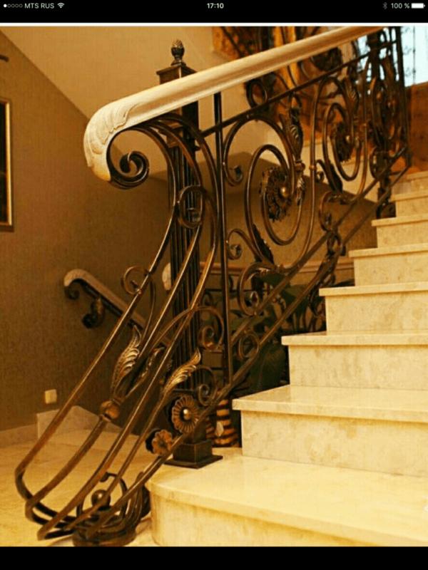 Кованые перила для балкона, лестниц, крыльца П-150