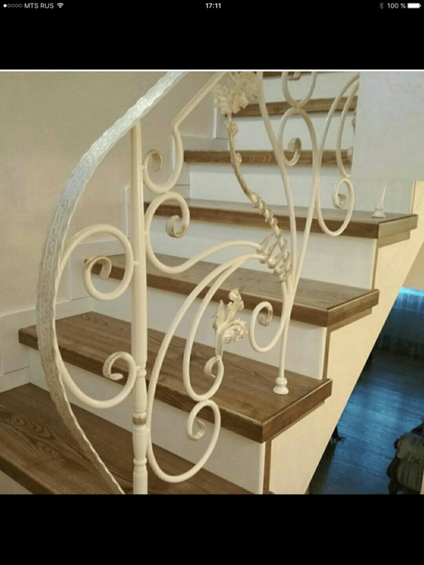 Кованые перила для балкона, лестниц, крыльца П-153