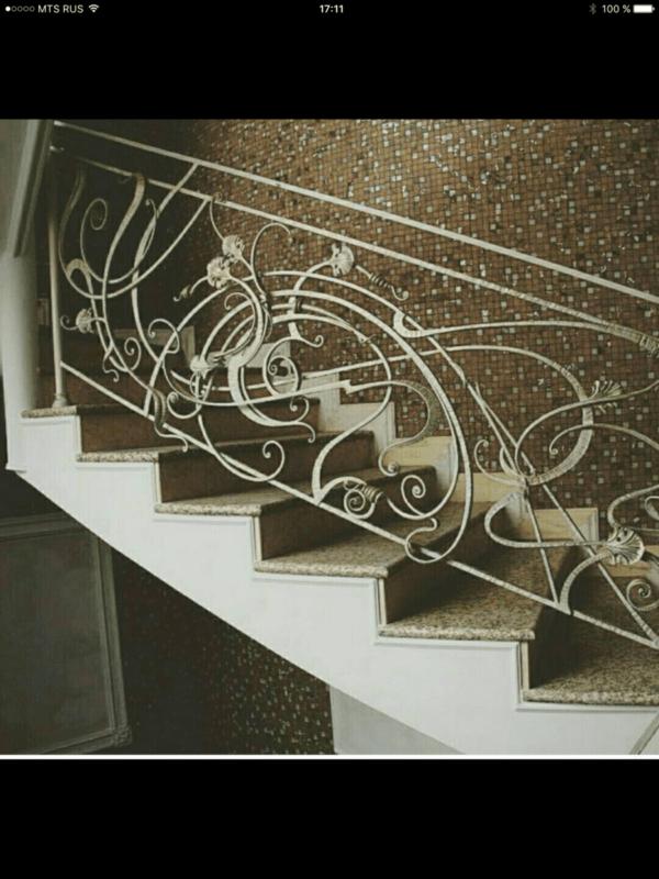 Кованые перила для балкона, лестниц, крыльца П-157