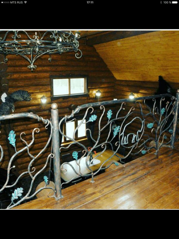 Кованые перила для балкона, лестниц, крыльца П-159