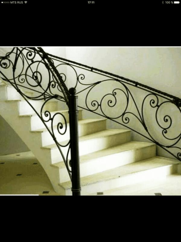 Кованые перила для балкона, лестниц, крыльца П-158