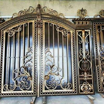 Кованые ворота V-121