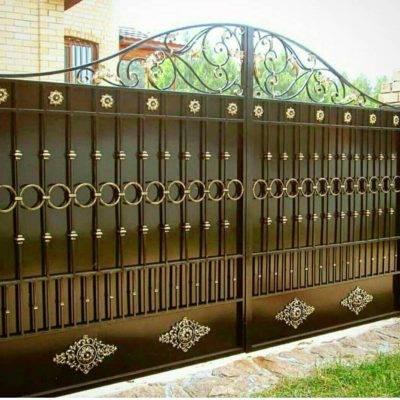 Кованые ворота V-124