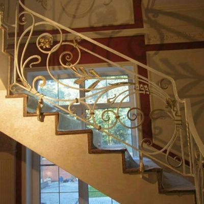 Кованые перила для балкона, лестниц, крыльца П166