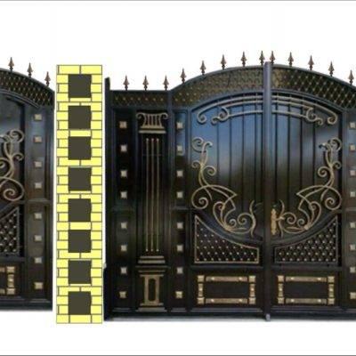 Кованые ворота V-148