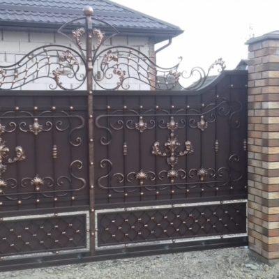 Кованые ворота V-155
