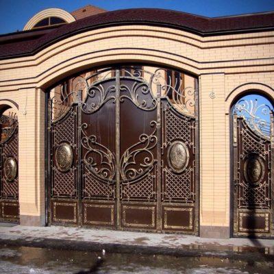 Кованые ворота V-156