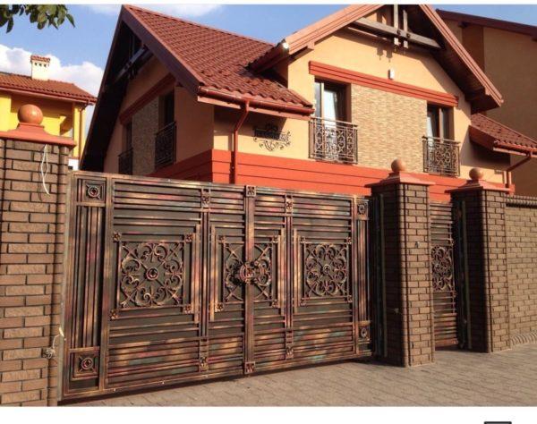Кованые ворота v-158