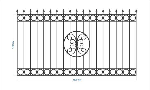 Кованый забор зс-66