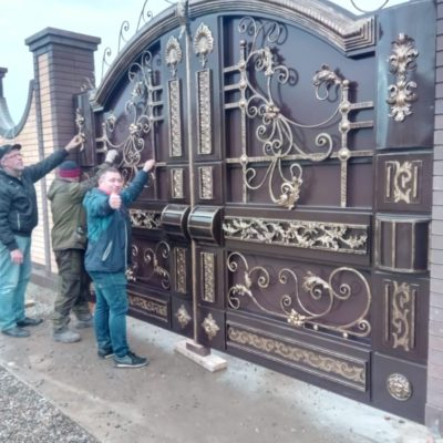 Кованые ворота V-165