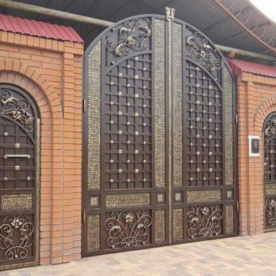 Кованые ворота V-175