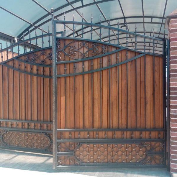Кованые воротаV178